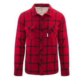 Topo Designs Field Plaid T-shirt Homme, rouge/noir